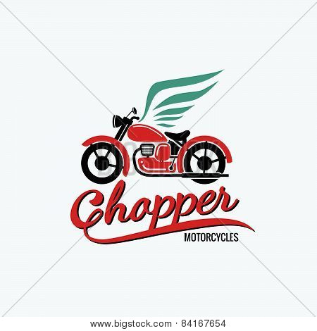orange chopper motorcycle logo
