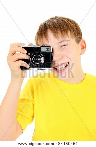 Kid With Photocamera