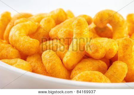 Cheese puff snacks