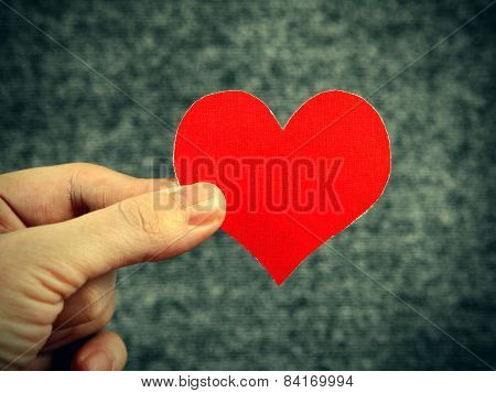 Heart Shape In The Hand
