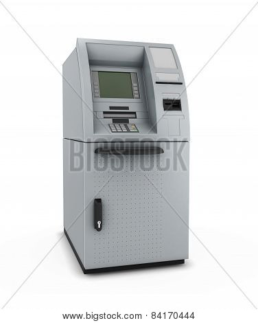 Atm On A White