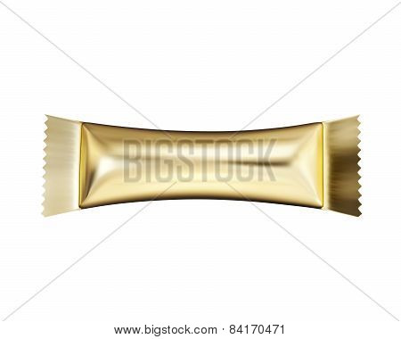 Packaging For Chocolate Isolate On A White