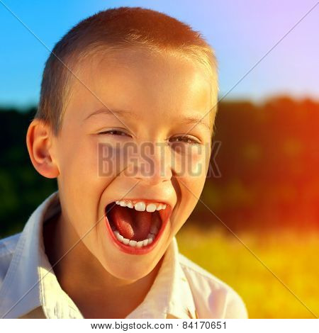 Cheerful Kid Outdoor