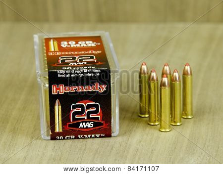 Box Of Hornady 22 Mag Bullets