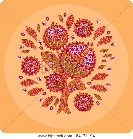 Decorative Flower, Circle, Ornament, Background, Youth Design, Colorful Flower, Indian Ornament, Ele