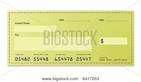 Green Dollar Cheque