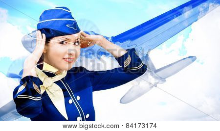 Beautiful smiling stewardess