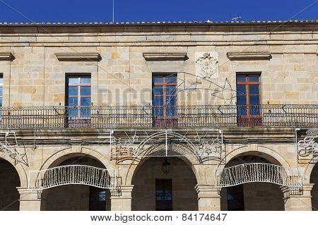 Town Hall In Espinosa De Los Monteros, Burgos, Castilla Y Leon, Spain