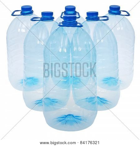 Six Big Bottles Of Water (clipping Path)