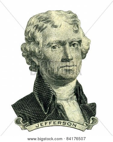 President Thomas Jefferson Portrait (clipping Path)