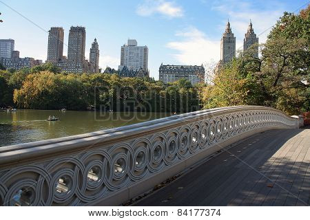 Bow Bridge In Central Park Manhattan, New York