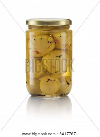 Glass Jar Of Pickled Lemon