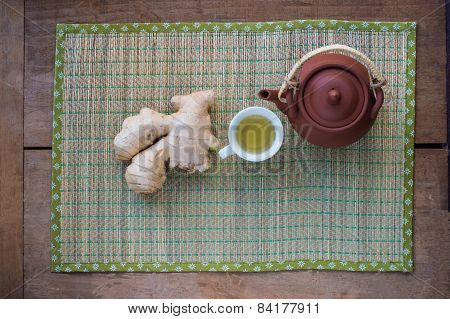Ginger tea made with fresh root