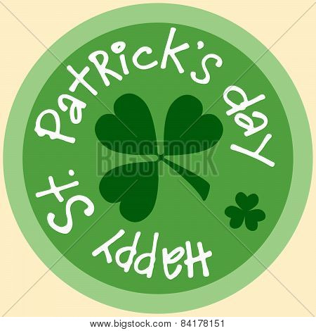 Day Patrick beer Mat coin icon symbol sticker