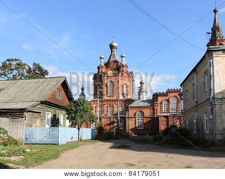 A view of Rabochiy Gorodok street, Ostashkov, Russia
