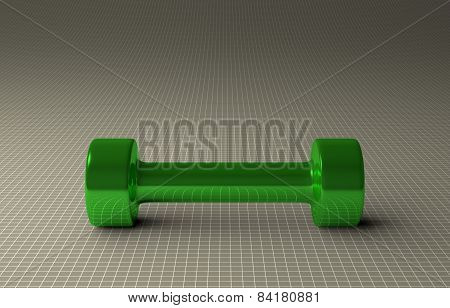 Glossy Green Dumbbell