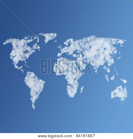 Illustration Of Clouds The World