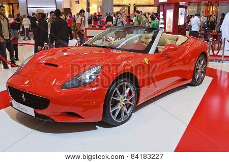 Ferrari California In Dubai Mall Gallery, UAE
