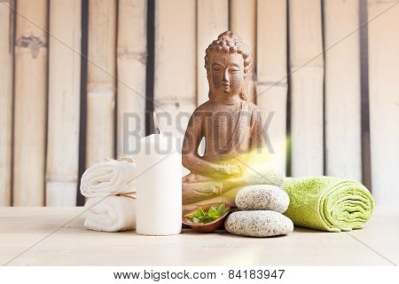 spa concept with buddha figure
