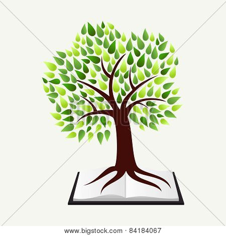 Education Concept Tree Book