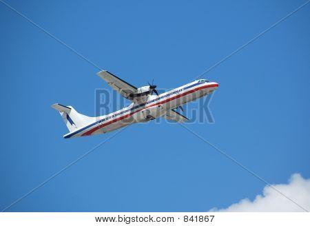 ATR-72 turboprop plane