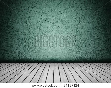 Grunge Concrete Emerald Background