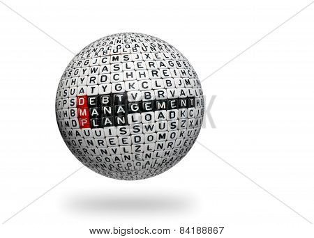 Dmp ,debt Management Plan 3D Ball