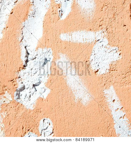 Pink In Texture Wall And  Morocco Africa Abstract
