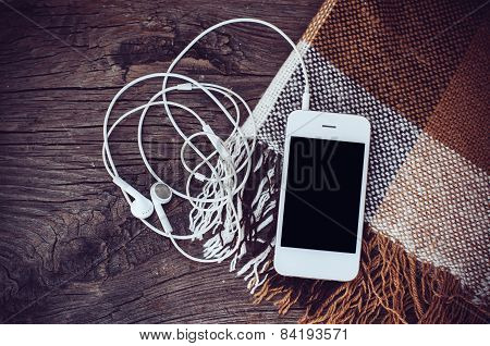 smart phone with headphones