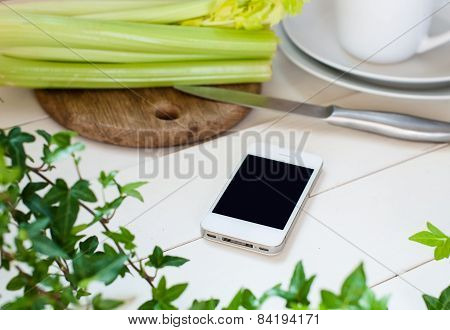 smartphone on a table