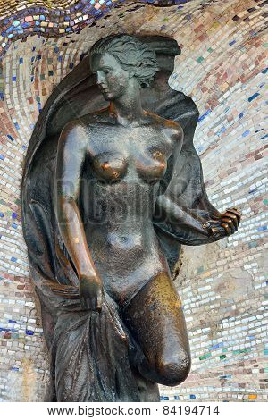 Sculpture Of Nymph. Svetlogorsk (rauschen), Russia