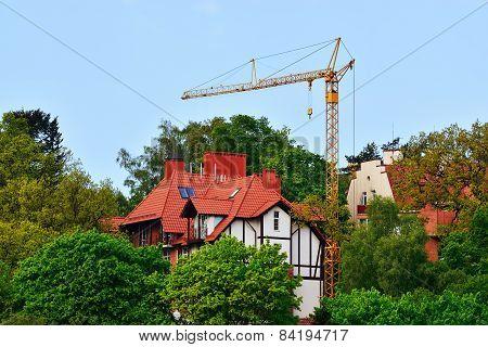 Construction. Svetlogorsk (rauschen). Kaliningrad Region, Russia