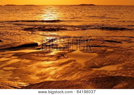 Sunrise On Sea Shores