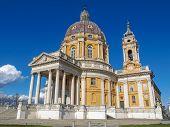 foto of turin  - The baroque Basilica di Superga church on the Turin hill Italy - JPG