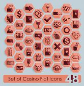 image of poker machine  - It is a set of casino icons - JPG