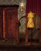picture of wardrobe  - Vintage atelier with dummy - JPG
