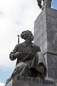 foto of sevastopol  - Figure of soldier on a monument to Lenin in city Sevastopol - JPG