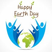 image of save earth  - go green and celebrate earth day design vector - JPG