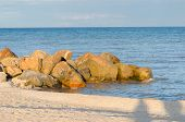 stock photo of azov  - Edge of the bank of the sea of Azov - JPG
