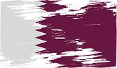 foto of qatar  - Flag of Qatar with old texture - JPG