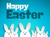 stock photo of easter eggs bunny  - Vector  - JPG