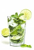 picture of mojito  - Mojito cocktail isolated on a white background - JPG