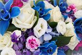 picture of hydrangea  - Orchid rose hortensia and hydrangea perfect flower bouquet - JPG