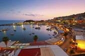 picture of marina  - Evening in Mikrolimano marina in Athens - JPG