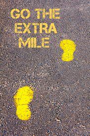 picture of mile  - Yellow footsteps on sidewalk - JPG