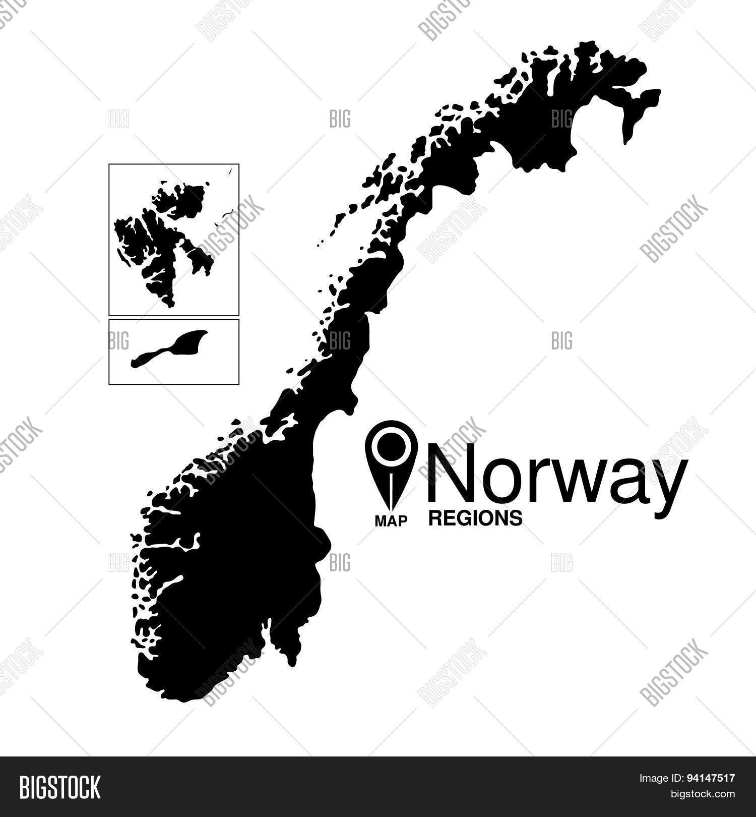 Norway Map Detailed Vector Vector Photo Bigstock - Norway map detailed