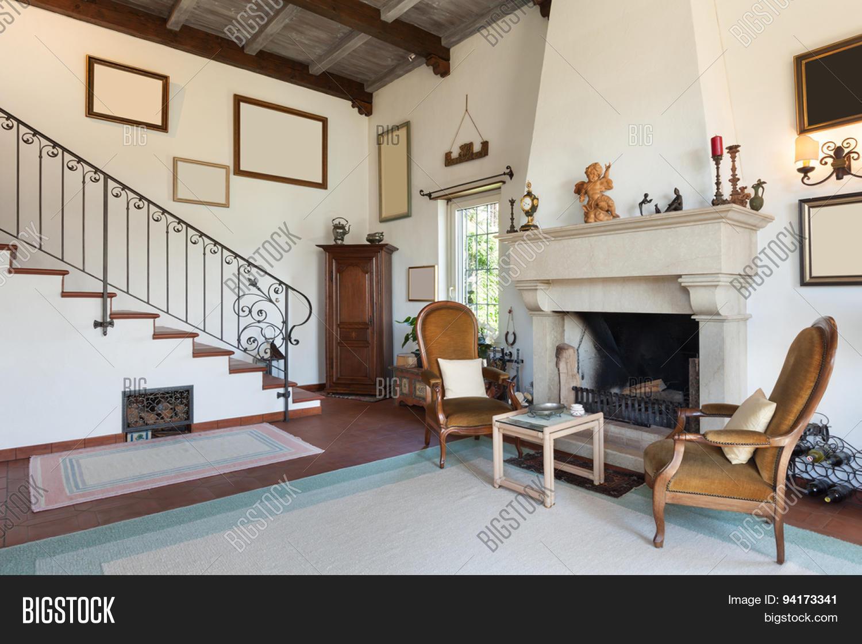 Interior old house classic image photo bigstock - Stock house mobili ...