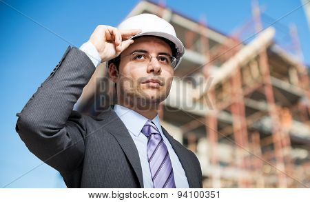 Site manager at work