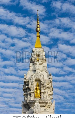 White Pagoda With Beauty Sky