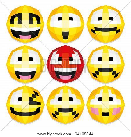Illustration of Happy Smiling Faces